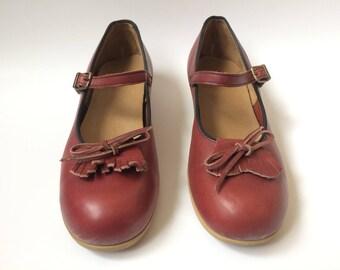 Vintage Mary Jane Fringe Shoes 9