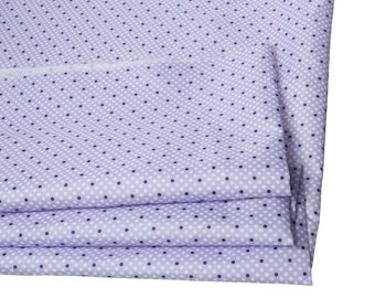 Coupons 70 x 50 cm polyester - purple and white polka dots