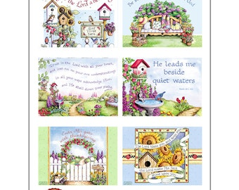 Garden Blessing Cards 02- INSTANT DOWNLOAD - Digital Christian Printable Clip Art Crafting Bible Verse Scripture Religious KD131