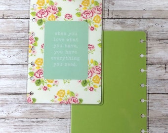 Floral Inspirational Mini Happy Planner Cover