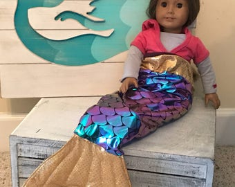 "Doll Mermaid Tails/ Mermaid Costume/fits 18"" doll clothes/ American Girl Doll, My Life Doll"