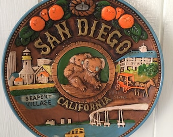 Vintage San Diego California Collectible Plate Ceramic