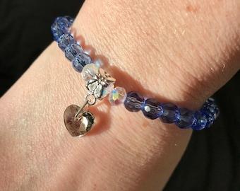Bracelet of Czech glass beads with Pendant