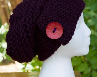 Eggplant Chunky Slouchy Hat