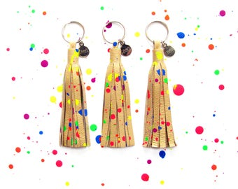 "4"" Splatter Leather Tassel 