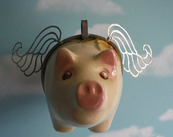 Flying Pig, When Pigs Fly, VIntage Piggy Bank