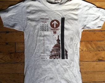 1980's Washington DC metro t shirt USA small