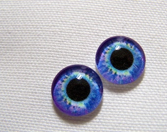 Doll eyes glass eyes for your art dolls or fantasy sculptures 12mm eyes