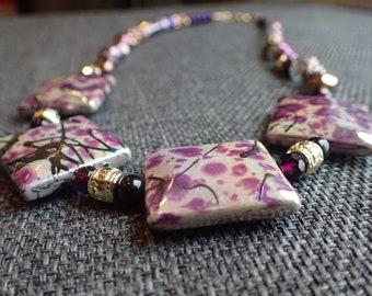 Purple Art Deco necklace