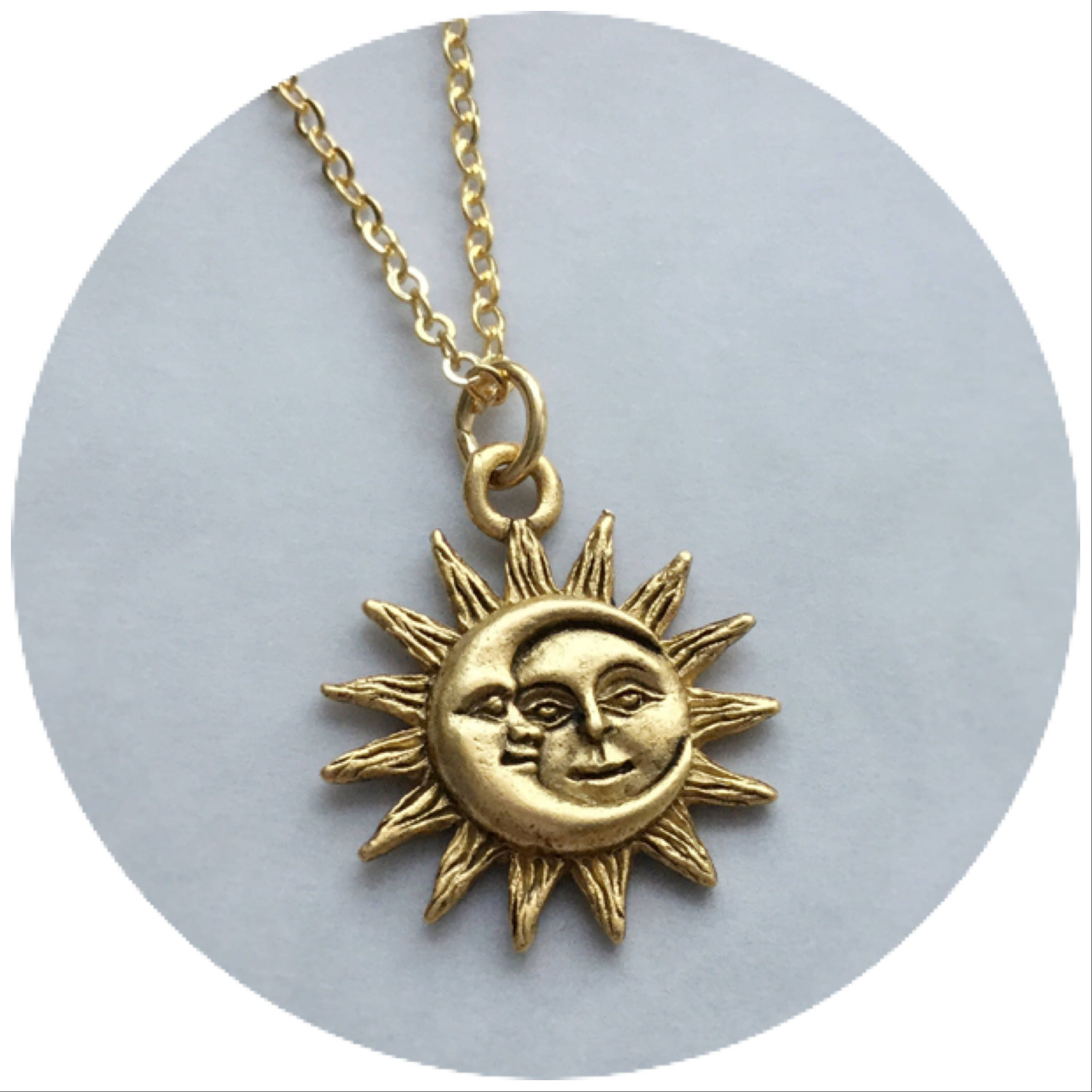 gold medaillon sun celine moon medallion chain daoust diamonds necklace and products sunroom