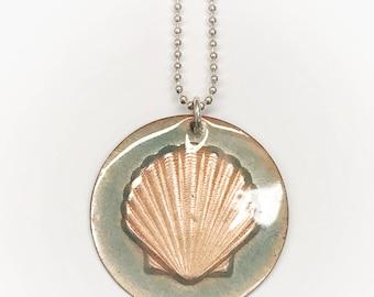 Enameled Sea Shell Necklaces
