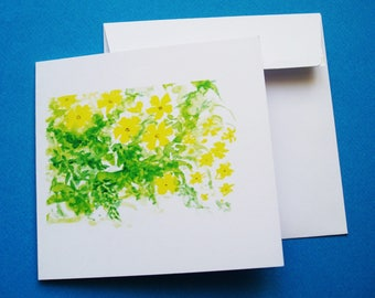"Card ""Jasmine"" greeting card with envelope."