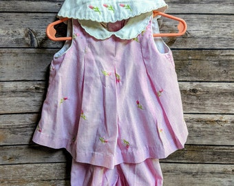 Vintage - Little Bitty - 3 Piece Set - Girls - Roses
