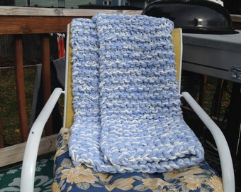 Knitted  Senior Blanket, Lap Blanket, Rocking chair throw, Wheelchair Afghan, Ready to ship
