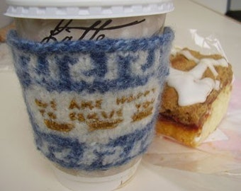PATTERN - Greek Deli Cup Coffee Cozy