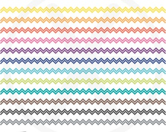 Borders Clipart. Colorful Chevron Digital Borders Clip Art. Rainbow Ribbon Images. Commercial Use. Instant Download. Digital Borders Set