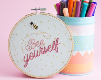 """Hand embroidery """"Bee yourself"""""""
