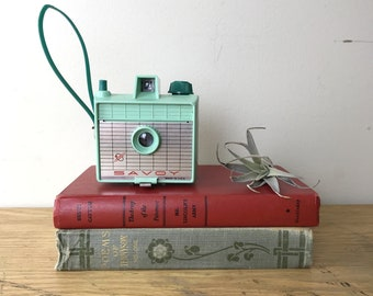 Vintage Savoy Mint Green Camera with Wrist Strap