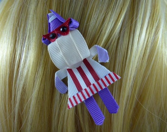 Doc McStuffins Hallie Disney Junior Inspired Ribbon Sculpture Hair Clip ...Hair Accessory ...Hairbow