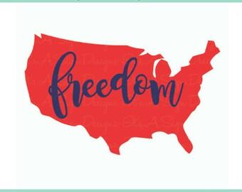 4th of July Freedom SVG, 4th of July svg, USA svg, Fourth of July, Summer Time SVG, Freedom 4th of July Cut File, Cricut svg Downloads