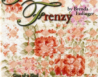 Art Quilt Book, Fracture Piecing, Strip Piecing - Fracture Frenzy - Softcover by Brenda Esslinger  - DIY