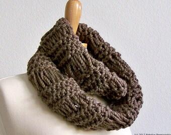 Knit Infinity Scarf, Chunky Knit Scarf Men, Knit Mens Infinity Scarf, Chunky Scarf, Knit Cowl Scarf, Mens Scarf Mens Cowl Scarf Winter Scarf