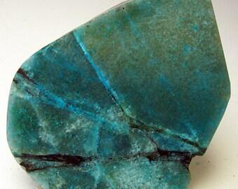 Wholesale Minerals -  AZ Chrysocolla Gem Silica Chalcedony Slab Rough 150ct