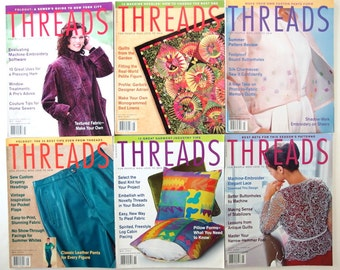 2001 Threads Magazines, No 93 to 98 with Index
