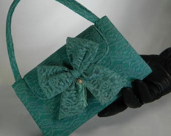 Stylish Lace Purse, Green Lace Purse,Exclusive Green Purse, Evening Purse, Elegant Purse, Unique Green Bag, Gift for Her