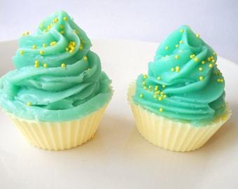 Vanilla Pear Soap Cupcake, Dessert Soap, Childrens soap, Novelty Soap, Homemade soap, glycerin soap