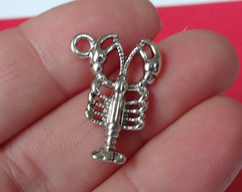 10 Lobster Charms 22x16x2.5mm hole: 1.5mm