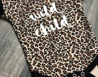Leopard Wild Child Onesie
