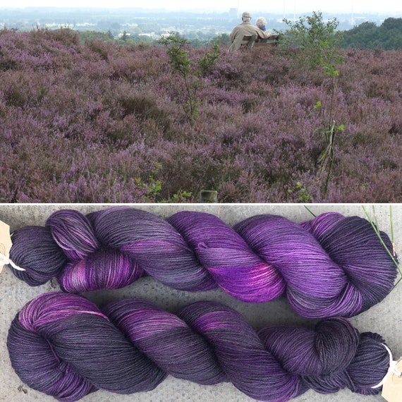 Heather & Tweed BFL, bluefaced leicester nylon sock yarn