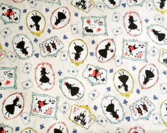 Japanese Fabric - Alice in Wonderland on Ivory - Fat Quarter (nu160201