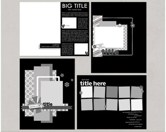 Sample Pack 24 - 8.5x11 Digital Scrapbooking Templates