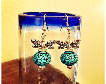 Tribal and Stylish Arylic bead earrings