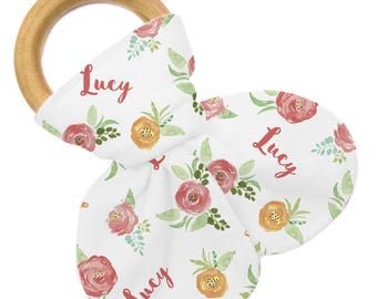 Personalized Teether - Floral Field