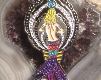 Limited Edition Bassnectar Lady Pin (Silver)