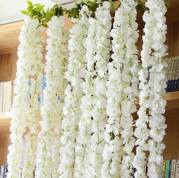 Wedding arch garland white wisteria silk flower garland home mightylinksfo
