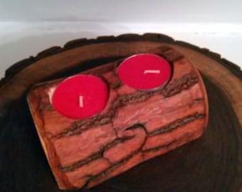Double Gumwood Candle Holder