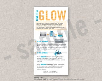 sample cards // sample packs // give it a glow // Rodan+Fields inspired // digital file // INSTANT DOWNLOAD