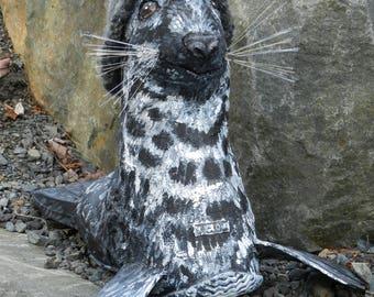 Grey Seal - Art Shoe Sculpture
