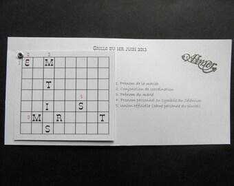 "share marriage ""crossword"" original black & white"