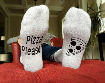 Pizza Socks - Funny Socks - Gift for Him - Gift for Her - Mens Sock - Women - Wine Socks - Pizza Sock - Novelty Gift - Gifts for Dad - Pizza