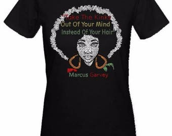 Take The Kinks Out Ladies Fitted Rhinestone T-shirts