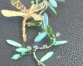 Golden Dragonfly Suncatcher