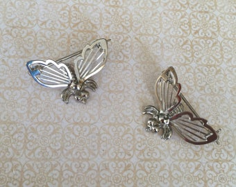 Vintage bumble bee SilverTone Scatter Brooch Pin