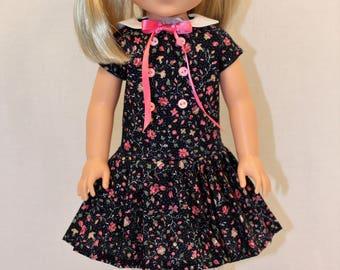 L'il Miss Sunshine-Going to Grandma's Dress, 14.5 Inch Doll Dress