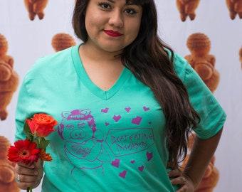 Beat alimentaires troubles v-Neck mer mousse Shirt Unisex chemise de récupération Pro XS-2XL