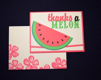 Thank You Greeting Card - Thanks a Melon